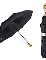 2016 High Grade Promotional  Fashion  Style 8k Black Frame And Personalized Handle Sunscreen 3 Fold Umbrella