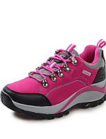 Women's Shoes Pigskin Flat Heel Comfort Fashion Sneakers Outdoor / Athletic Purple / Red