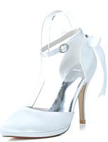 Femme Chaussures de mariage Chaussures formelles Printemps Eté Satin Mariage Soirée & Evénement Strass Ruban Talon Aiguille Violet Rouge