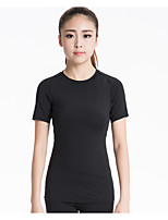 Running Sweatshirt / T-shirt Women's Short Sleeve Breathable / Quick Dry / Sweat-wicking / Stretch / Compression Yoga / Fitness / Running
