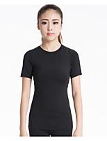 Corsa Felpa / T-shirt Per donna Maniche corte Traspirante / Asciugatura rapida / Compressione / Elasticizzato Yoga / Fitness / Corsa