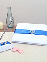 Satin Vegas ThemeWithRibbons / Rhinestones Guest Book / Pen Set