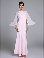 Trumpet / Mermaid Mother of the Bride Dress Ankle-length Long Sleeve Chiffon with Beading