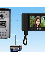 7 Inch Villa Doorbell Fingerprint + Password + Card + Four In One Factory Building Intercom Intercom
