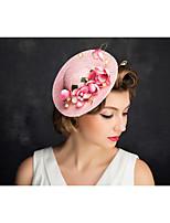 Women's Lace / Pearl / Net Headpiece-Special Occasion Fascinators 1 Piece Beige Irregular 22