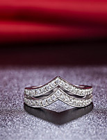 Single V Combined Double V Wedding Band Rings for Women 925 Sterling Silver Semi Mount SONA Diamond Band Ring for Girl