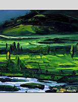 Handgeschilderde Abstract Olie schilderijen,Klassiek / Traditioneel / Realisme / Mediterraans / Pastoraal / Europese Stijl / ModernEén