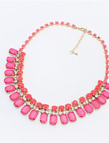 Fashion Gemstone Diamond Necklace Short Block Children Necklace