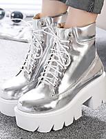 Women's Shoes Synthetic Spring / Summer / Fall Combat Boots Boots Casual Wedge Heel Others Black / White / Gray