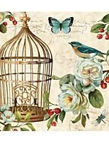 Stretched Canvas Print, Flower & Bird