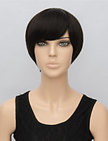28cm Straight Black Short Wigs for Women 2016 New Fashion Handmade Heat Resistant Synthetic Wigs
