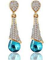 Full Crystal Drop Earrings