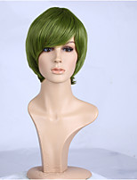 Natural Green Color Popular Straight Synthetic Wig For Woman