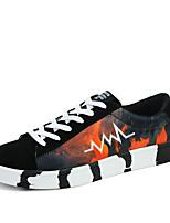 Men's Walking Shoes Tulle Athletic Sneakers Athletic Sneaker Flat Heel Blue / Red / Orange