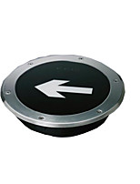 Stainless Steel Band And Larger Circle Has Toughened Glass Fire Emergency Buried Lights Meet Ip65