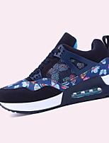 scarpe delle donne della molla pu / cadere scarpe da ginnastica di moda casual comfort tallone piano altri blu / nero e oro / nero e rosso