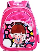 Unisex-Casual-Polyester-Backpack-Blue / Fuchsia