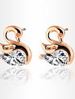 Fashion Popula Temperament Swan Shape Zircon Earrings