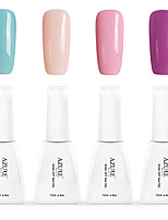 12ml Azure Summer Color Nail Polish 4PCS Soak off UV Gel Nails Art Decoration NO.2