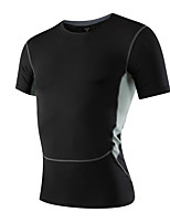 Running Sweatshirt / T-shirt Men's Short Sleeve Breathable / Quick Dry / Sweat-wicking / Stretch / Compression Fitness / Running Sports