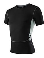 Corsa Felpa / T-shirt Per uomo Maniche corte Traspirante / Asciugatura rapida / Elasticizzato / Compressione Fitness / Corsa Sportivo