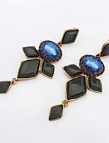 Fashion Atmospheric Gemstone Earrings Wild