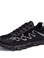 Men's Shoes Casual Tulle Fashion Sneakers Black / Blue