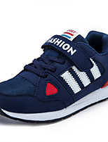 Boys' Shoes Casual PU Fashion Sneakers Spring / Fall Comfort / Round Toe Hook & Loop Blue / Pink / Red