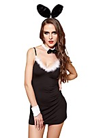 YUIYE® Hot Black Sexy Women Erotic Lingerie Sexy Costumes Sexy Clothes with Hairpin Collar Rabbit Costume Cosplay