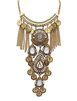 Fashion Water Droplets Tassel Necklace Luxury Jewelry