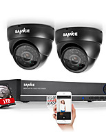 sannce® 4ch volledige 960H cctv dvr video surveillance recorder 800tvl camera's CCTV-systeem
