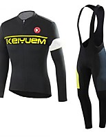 KEIYUEM®Others Winter Thermal Fleece Long Sleeve Cycling Jersey+Bib Tights Ropa Ciclismo Cycling Clothing Suits #W22