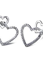 dolci borchie Le donne guardano cuore orecchini nickel free&piombo libero superiore aaa zirconi platino placcato