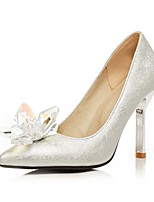 Women's Heels Summer / Fall Heels / Pointed Toe PU Office & Career / Casual Stiletto Heel Sparkling Glitter Silver