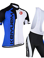 KEIYUEM® Summer Cycling Jersey Short Sleeves + BIB Shorts Ropa Ciclismo Cycling Clothing Suits #K111