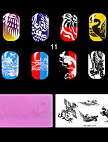 1PC Plastic The Lastest Style Ret Environmental  Lovely Nail Stamping Plate with Fashion Pattern. (KD-SM612-011)