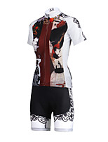 PaladinSport Women  Cycyling Jersey + Shorts Suit DT643 Traditional Woman