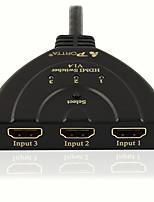portta hdmi 3x1-Schalter mit Zopf Unterstützung bietet volle 3D und 4k @ 30Hz (300 MHz)