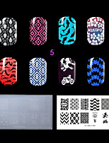 1PC Plastic Clear White Lovely Environmental Nail Stamping Template  (KD-SM612-005)