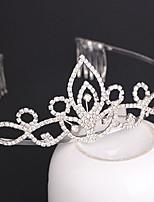 Vrouwen / Bloemenmeisje Bergkristal / Licht Metaal Helm-Bruiloft / Speciale gelegenheden Tiara's / Hoofdbanden 1 Stuk Zilver Rond 16