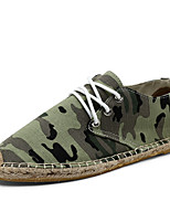 Women's Shoes Fabric Flat Heel Comfort Loafers Outdoor / Casual Black / Yellow / Green / Beige