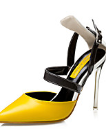 Women's Shoes AmiGirl 2016 New Style Party/Wedding/Dress Black/Pink/Yellow Sexy Stiletto Heels