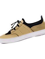 Men's Flats Spring / Fall Comfort Patent Leather Casual Flat Heel Gore Black / Gray / Gold Walking