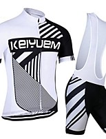 KEIYUEM® Summer Cycling Jersey Short Sleeves + BIB Shorts Ropa Ciclismo Cycling Clothing Suits #K100