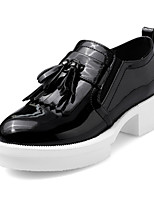 Women's Shoes Spring / Fall Platform / Round Toe Loafers & Slip-Ons Office & Career / Dress / Casual Chunky Heel Tassel