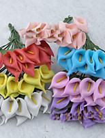 1pc 1 Une succursale Plastique Lis Calla Guirlande et Fleur Murale Fleurs artificielles 10*10*5cm