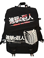 Cartoon Attack on Titan Canvas Backpack