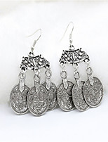 Western Style Fashionable Vintage Coin Earrings Lady