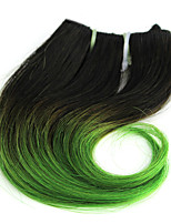 Body Wave 1 Bundles 1B/Green Ombre Color Brazilian Body Wave Hair 100% Human Hair Weaves.