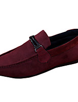 Men's Shoes Fleece Casual Flats Casual Walking Flat Heel Others / Ruched Black / Blue / Red